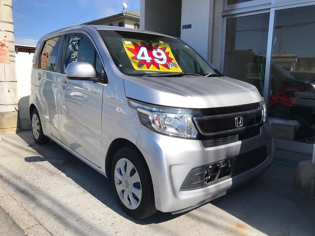 沖縄の中古車 ホンダ N-WGN 車両価格 49万円 リ済別 2015(平成27)年 12.8万km カトラリーシルバーメタリック