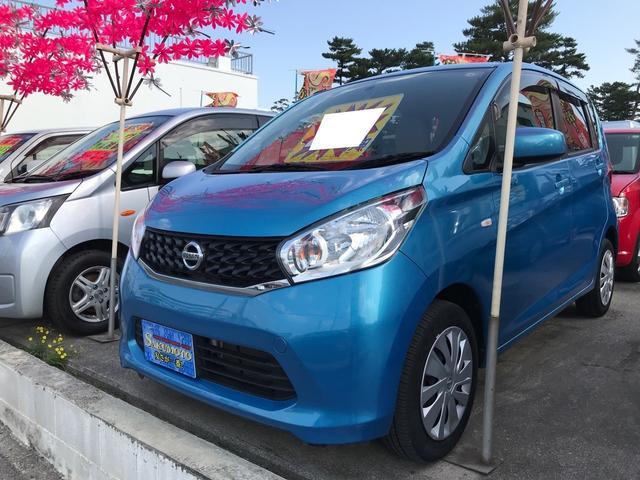 沖縄の中古車 日産 デイズ 車両価格 49万円 リ済別 2013(平成25)年 4.0万km ブルーM