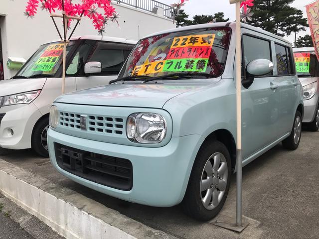 沖縄の中古車 スズキ アルトラパン 車両価格 35万円 リ済別 2010(平成22)年 7.4万km エアブルーメタリック