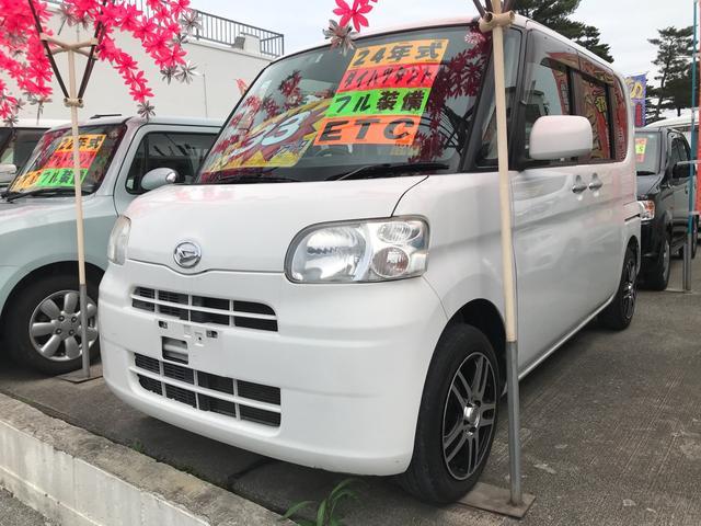 沖縄の中古車 ダイハツ タント 車両価格 33万円 リ済別 2012(平成24)年 9.2万km ホワイト