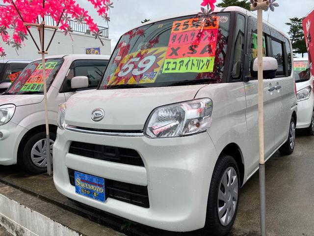 沖縄の中古車 ダイハツ タント 車両価格 59万円 リ済別 2013(平成25)年 10.7万km パールホワイトIII