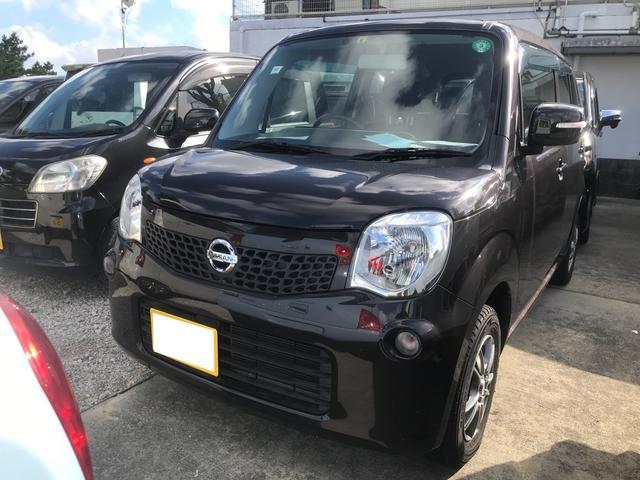 沖縄県の中古車ならモコ X インテリキー プッシュスタート 社外アルミ オートエアコン ベンチシート ナビ