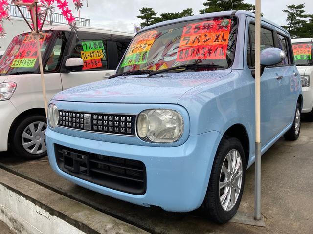 沖縄県の中古車ならアルトラパン XL スマートキー プッシュスタート スマートフォン連携ナビ装着車 バックカメラ 社外アルミ ベンチシート Wエアバック