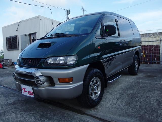 沖縄の中古車 三菱 デリカスペースギア 車両価格 ASK リ済込 1998(平成10)年 13.9万km アストリアグリーンPII