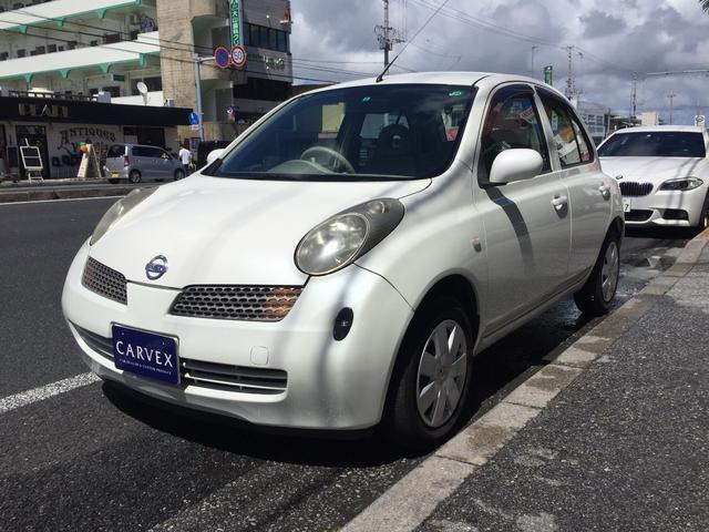沖縄の中古車 日産 マーチ 車両価格 9.8万円 リ済別 2003(平成15)年 10.4万km ホワイト