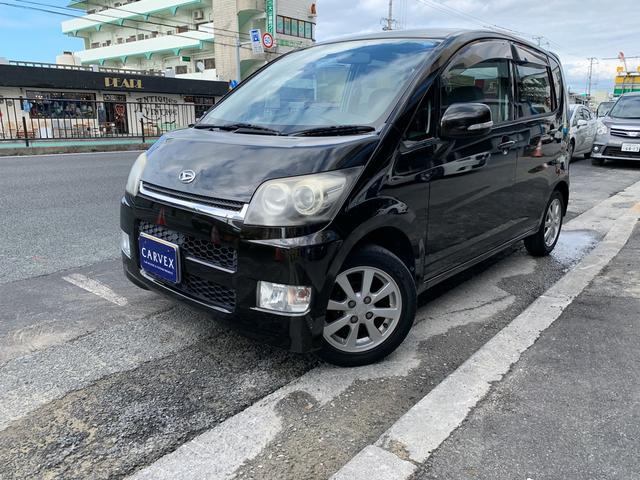 沖縄県の中古車ならムーヴ カスタムX 新品タイヤ4本サービス MOMOステ ETC