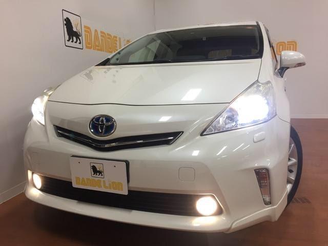 沖縄県の中古車ならプリウスアルファ Sツーリングセレクション 2年保証付 純正SDナビ