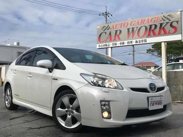 沖縄の中古車 トヨタ プリウス 車両価格 83万円 リ済別 平成21年 9.7万km パールホワイト