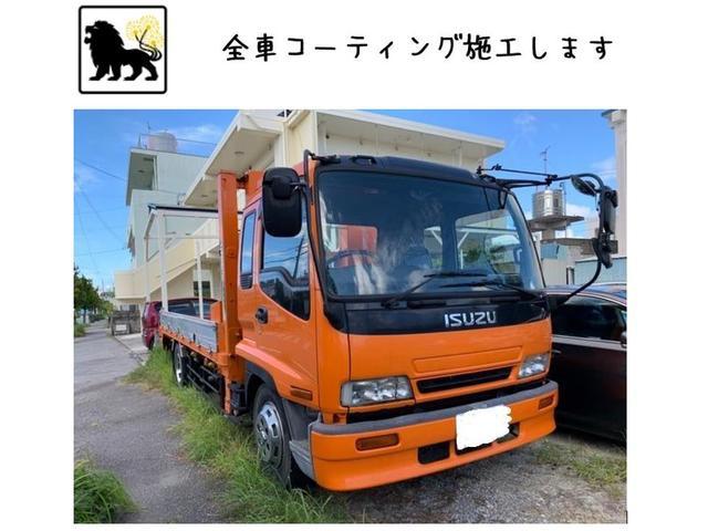 沖縄県の中古車ならフォワード セルフローダー ユニック ウィンチ ガラスコーティング