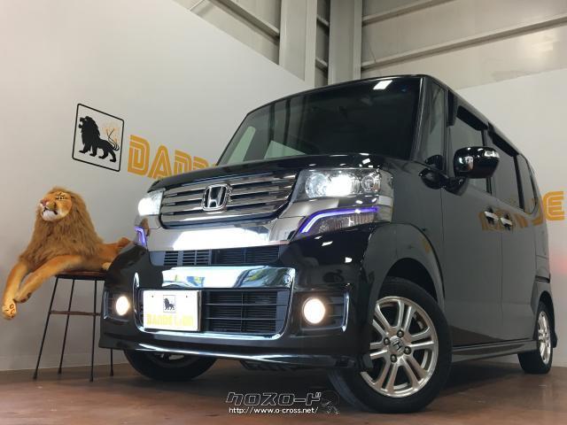 沖縄の中古車 ホンダ N-BOXカスタム 車両価格 77万円 リ済別 2012(平成24)年 6.5万km ブラック