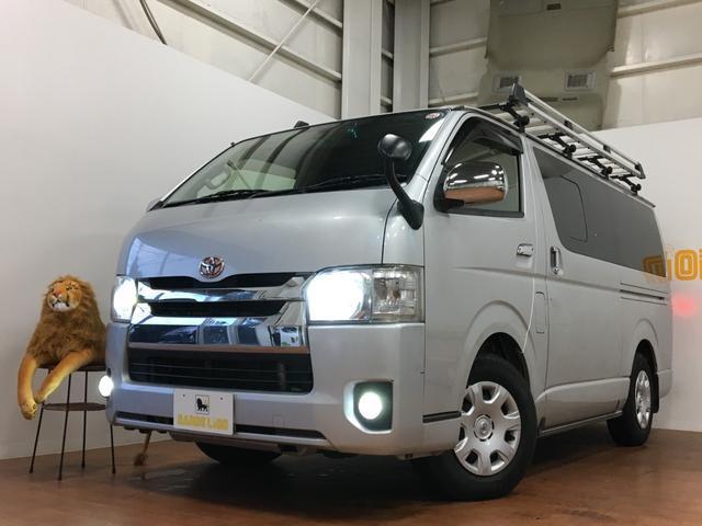 沖縄県の中古車ならレジアスエースバン スーパーGL SDナビ TV バックカメラ LEDヘッドライト 黒革調シートカバー