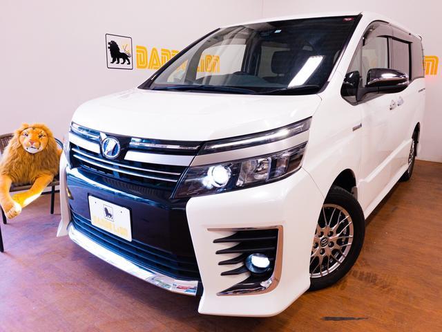 沖縄県の中古車ならヴォクシー ハイブリッドZS 煌II LEDヘッドライト 両側パワースライドドア 純正16インチアルミホイール 煌メッキドアミラー