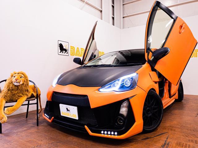 沖縄の中古車 トヨタ アクア 車両価格 43万円 リ済別 2012(平成24)年 11.7万km オレンジ
