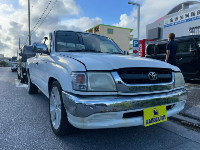 トヨタ エクストラキャブ 社外18インチアルミホイール サイドバイザー エアバック ABS