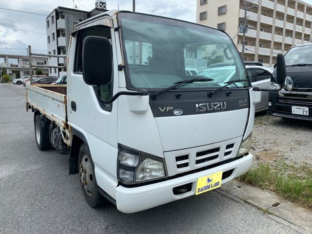 沖縄市 dandelion いすゞ エルフトラック  クラッチ無し 4MT エアコン ディーゼル ホワイト 26.1万km 2006(平成18)年