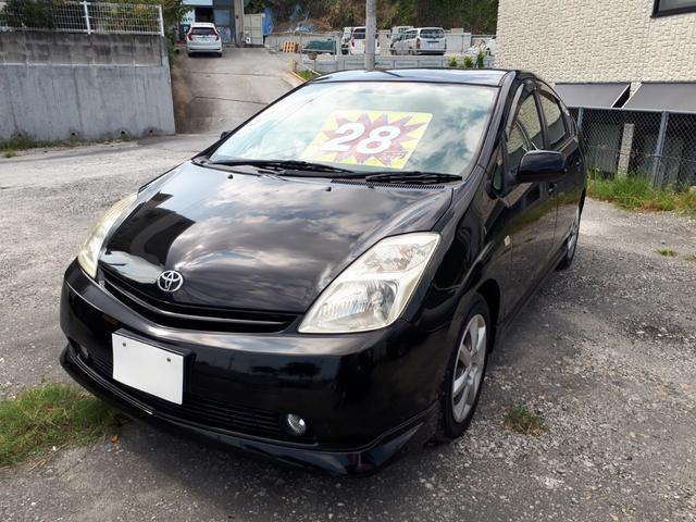沖縄の中古車 トヨタ プリウス 車両価格 28万円 リ済込 2003(平成15)年 13.8万km ブラック