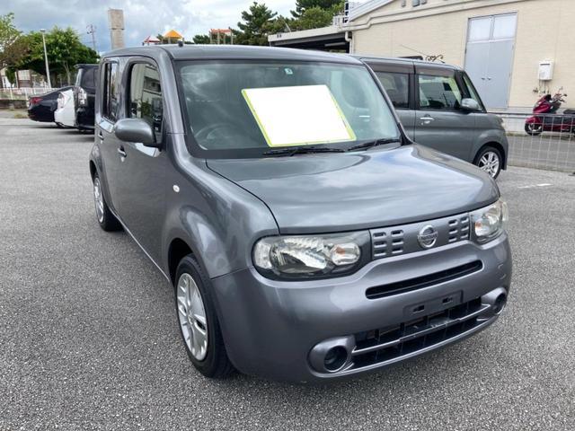 沖縄県の中古車ならキューブ 15X インテリキー プッシュスタート ベンチシート アイドリングストップ 純正ナビ Bluetooth