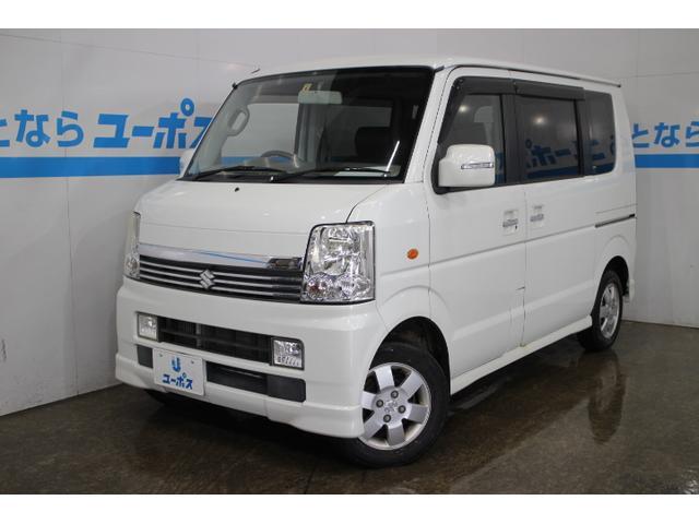 沖縄の中古車 スズキ エブリイワゴン 車両価格 58万円 リ済別 2010(平成22)年 7.5万km パールホワイト