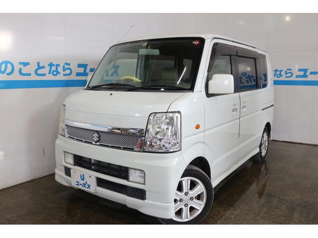 沖縄の中古車 スズキ エブリイワゴン 車両価格 69万円 リ済別 2008(平成20)年 4.5万km パールホワイト