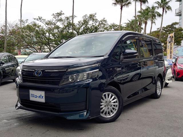 沖縄県の中古車ならヴォクシー ハイブリッドX OP5年保証対象車 両側パワースライドドア 純正ナビ バックモニター LEDオートライト