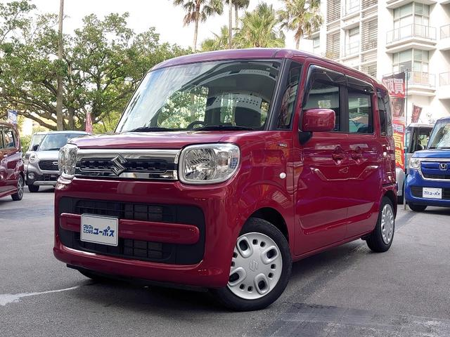 沖縄県那覇市の中古車ならスペーシア ハイブリッドX OP10年保証対象車 スズキセーフティサポート 両側パワースライドドア シートヒーター