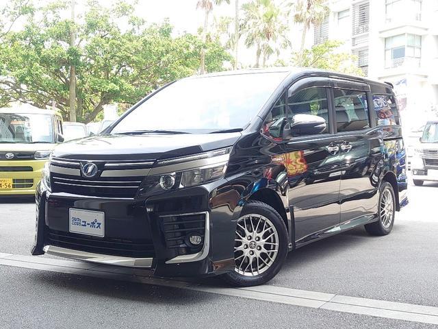 沖縄県の中古車ならヴォクシー ハイブリッドZS 煌II OP5年保証対象車 トヨタセーフティセンス 両側パワースライドドア 純正ナビ