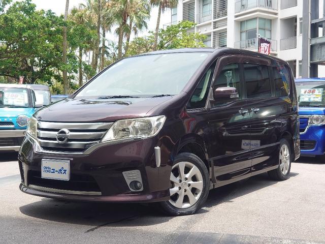 沖縄の中古車 日産 セレナ 車両価格 85万円 リ済別 2011(平成23)年 4.5万km オーロラモーヴRP