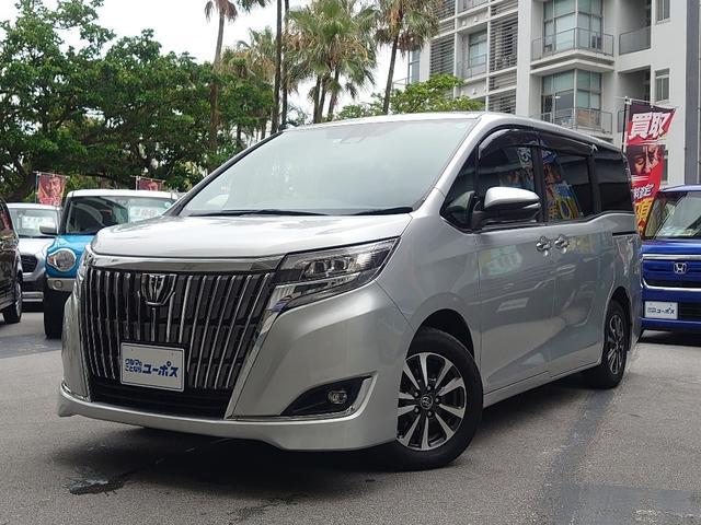 沖縄県の中古車ならエスクァイア Xi OP10年保証対象車 トヨタセーフティセンス パワースライドドア 9インチ純正SDナビ(フルセグ・Bluetooth) オートハイビーム