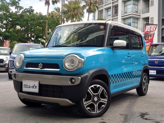沖縄県那覇市の中古車ならハスラー X OP5年保証対象車 レーダーブレーキサポート 純正スマートフォン連携ナビ 純正15インチアルミ バックモニター
