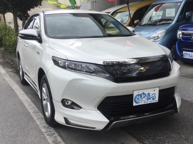 沖縄県浦添市の中古車ならハリアーハイブリッド エレガンス モデリスタエアロ・ロッソレザー