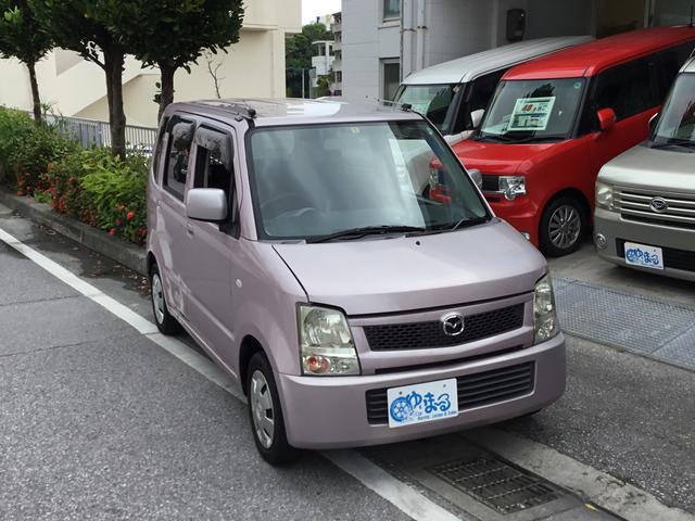 沖縄の中古車 マツダ AZワゴン 車両価格 19.8万円 リ済別 2005(平成17)年 6.5万km ピンクM