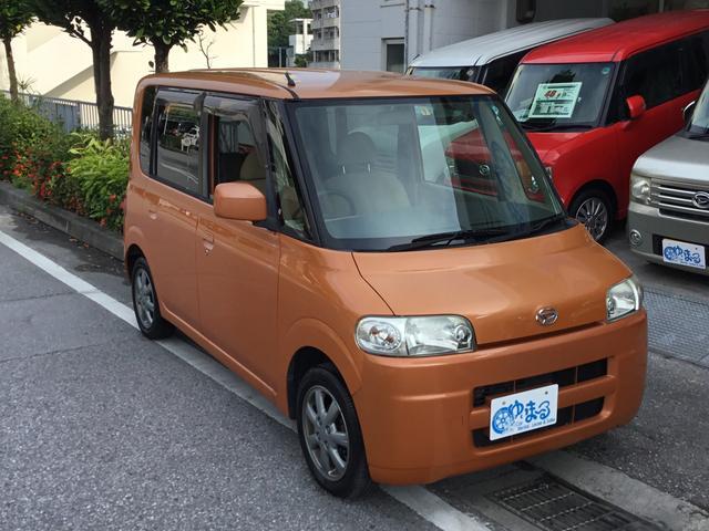 沖縄の中古車 ダイハツ タント 車両価格 16.8万円 リ済別 2005(平成17)年 15.8万km オレンジM