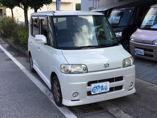 沖縄の中古車 ダイハツ タント 車両価格 19.8万円 リ済別 平成19年 9.2万km パールホワイト