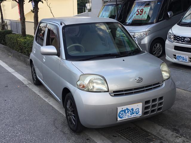 沖縄の中古車 ダイハツ エッセ 車両価格 19.8万円 リ済別 2006(平成18)年 4.4万km シルバーM