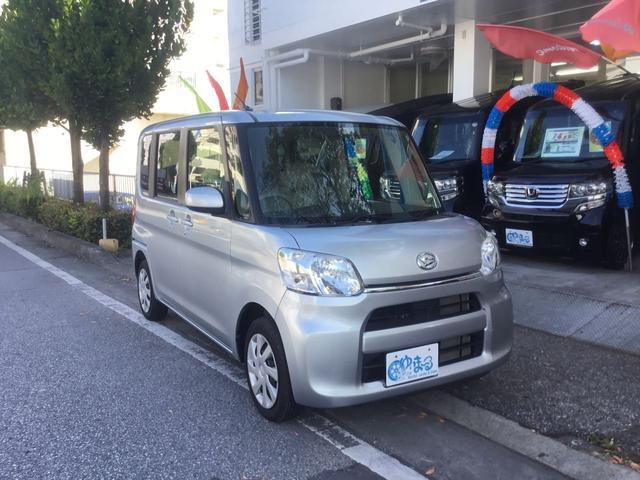 沖縄県の中古車ならタント L 両側スライドドア ナビ Bluetooth DVD再生 アイドリングストップ キーレス レンタアップ ベンチシート 純正ホイール 車検整備付 保証付