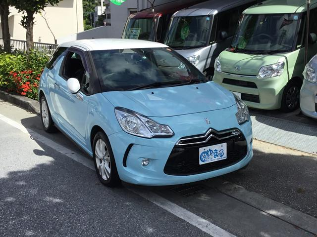 沖縄県の中古車ならシトロエン DS3 シック・ワンオーナー車・保証付き・ポータブルNAV・ETC付