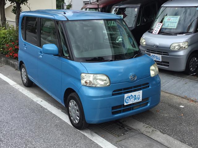 沖縄の中古車 ダイハツ タント 車両価格 29.8万円 リ済別 2010(平成22)年 11.3万km ブルー