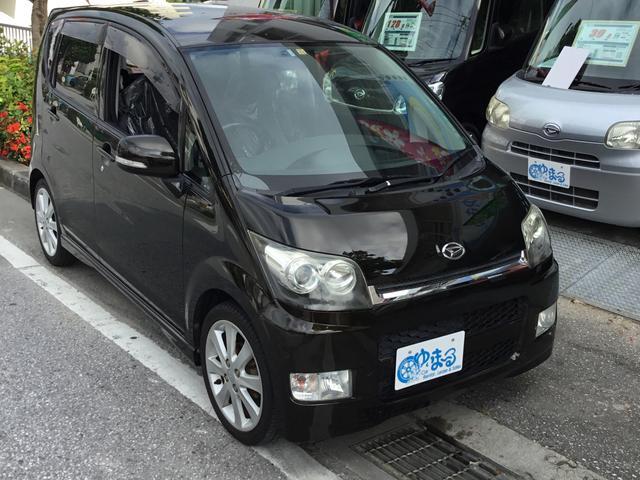 沖縄の中古車 ダイハツ ムーヴ 車両価格 31.8万円 リ済別 2008(平成20)年 11.0万km ブラックマイカ
