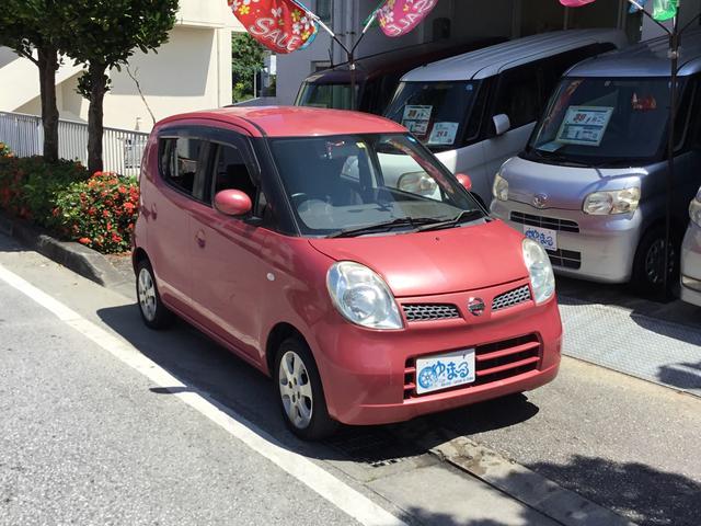 沖縄の中古車 日産 モコ 車両価格 16.8万円 リ済別 2008(平成20)年 15.9万km ピンクM