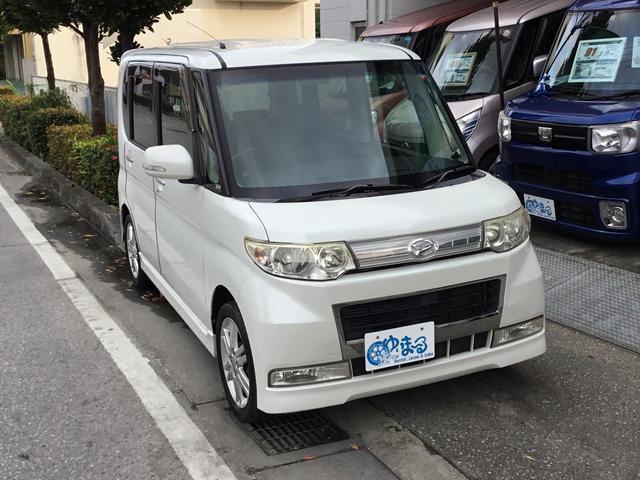 沖縄県の中古車ならタント カスタムVセレクションターボ・ワンオーナー車・記録簿・保証