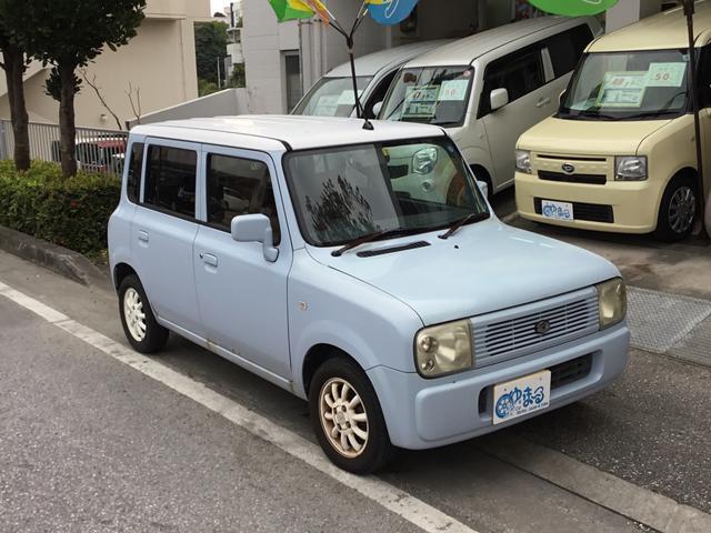 沖縄の中古車 スズキ アルトラパン 車両価格 5.8万円 リ済別 2005(平成17)年 13.8万km ライトブルー