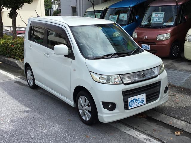 沖縄の中古車 スズキ ワゴンRスティングレー 車両価格 29.8万円 リ済別 2009(平成21)年 16.2万km パールホワイト