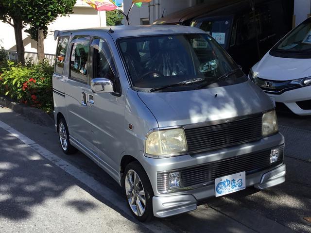 沖縄県の中古車ならアトレーワゴン エアロダウンビレット レザーシート ウッドステアリング