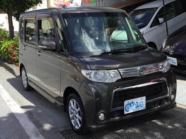 沖縄県浦添市の中古車ならタント カスタムX 左スライド HID 純正アルミ