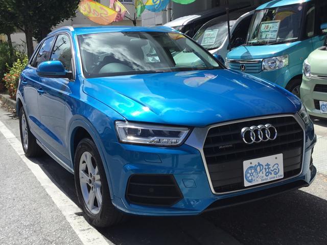 沖縄県の中古車ならQ3 2.0TFSIクワトロ180PS 4WD ナビTV Bluetooth バックカメラ パワーシート HIDヘッドライト スマートキー ETC 内地仕入れ R4/9迄車検付き 車検整備付き 保証付き