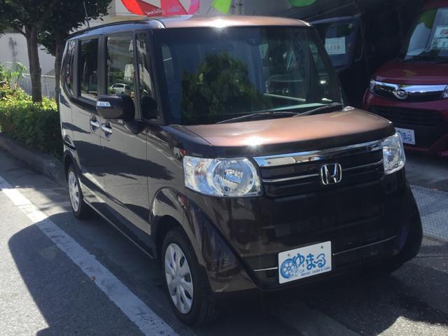沖縄県浦添市の中古車ならN-BOX G・Lパッケージ 衝突軽減ブレーキシステム・左パワースライド・バックモニター・リアウィンドウサンシェード・ETC・盗難防止システム・UVカットガラス・プライバシーガラス・保証付き
