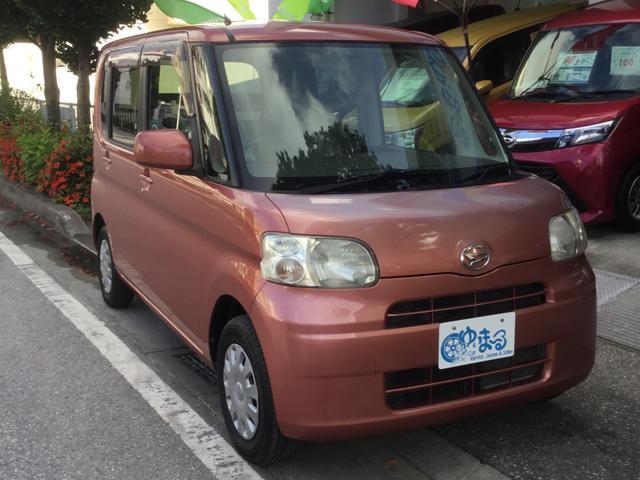 沖縄県浦添市の中古車ならタント X 左スライド・UVカットガラス・プライバシーガラス・盗難防止システム・保証付き