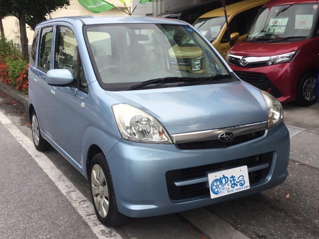 沖縄の中古車 スバル ステラ 車両価格 21万円 リ済別 2008(平成20)年 10.9万km アジュールブルーパール