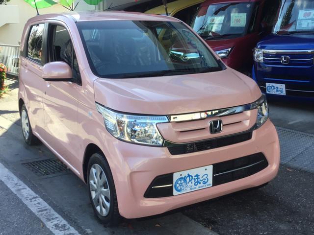 沖縄県の中古車ならN-WGN G Bluetoothオーディオ対応ナビ・バックモニター・衝突軽減ブレーキシステム・UVカットガラス・プライバシーガラス・盗難防止システム・保証付き
