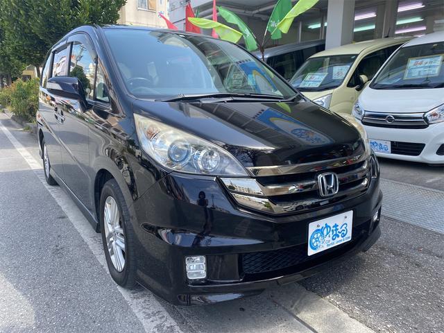 沖縄県浦添市の中古車ならステップワゴン スパーダS Zパッケージ 純正ナビ・キーレスエントリー・Bluetooth・ワンセグ・左側パワースライドドア・HID・オートエアコン・禁煙車・純正ホイール・車検整備付き・1年保証付き